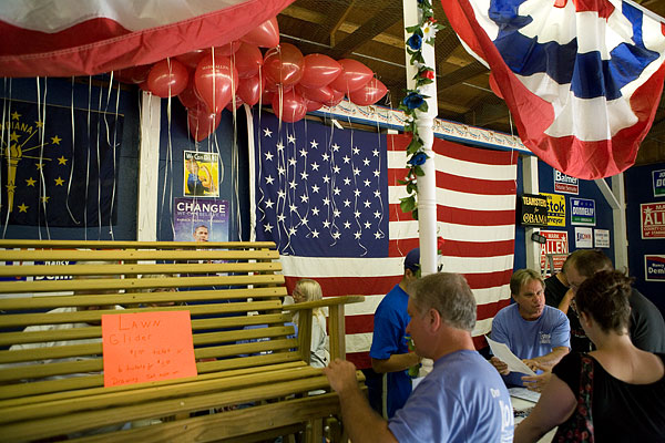 Democrats' booth, Starke County Fair, Hamlet
